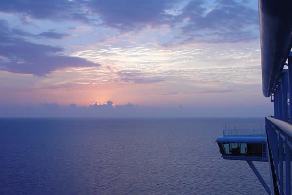 Sunset on Princess Cruise Lines