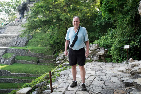 Jack Kennard at Palenque ruins